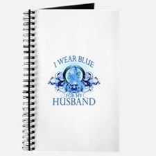 I Wear Blue for my Husband (floral) Journal