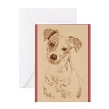 Jack Russell Terrier Smooth Greeting Card