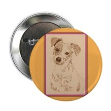 """Jack Russell Terrier Smooth 2.25"""" Button"""