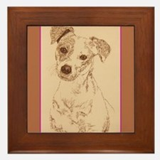 Jack Russell Terrier Smooth Framed Tile