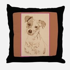 Jack Russell Terrier Smooth Throw Pillow