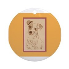Jack Russell Terrier Smooth Ornament (Round)