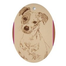 Jack Russell Terrier Smooth Ornament (Oval)