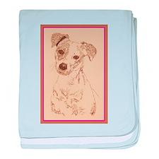 Jack Russell Terrier Smooth baby blanket