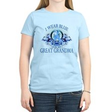 I Wear Blue for my Great Grandma (floral) T-Shirt