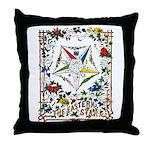 Vintage Eastern Star Signet Throw Pillow