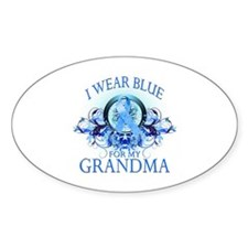 I Wear Blue for my Grandma (floral) Decal