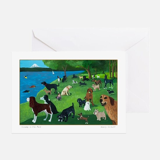 Sunday in the Park card Greeting Cards