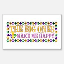Happy Big Ones Sticker (Rectangle)