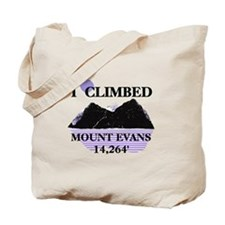 I Climbed MOUNT EVANS 14,264' Tote Bag