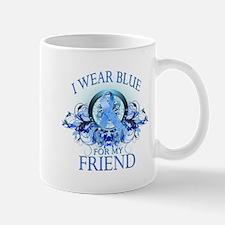 I Wear Blue for my Friend (floral) Mug
