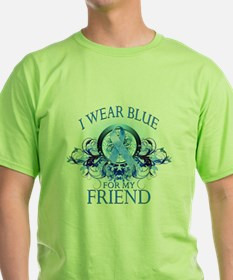 I Wear Blue for my Friend (floral) T-Shirt