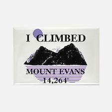 I Climbed MOUNT EVANS 14,264' Rectangle Magnet