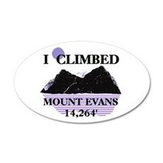 I Climbed MOUNT EVANS 14,264' 38.5 x 24.5 Oval Wal