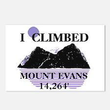 I Climbed MOUNT EVANS 14,264' Postcards (Package o