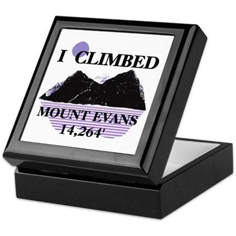 I Climbed MOUNT EVANS 14,264' Keepsake Box