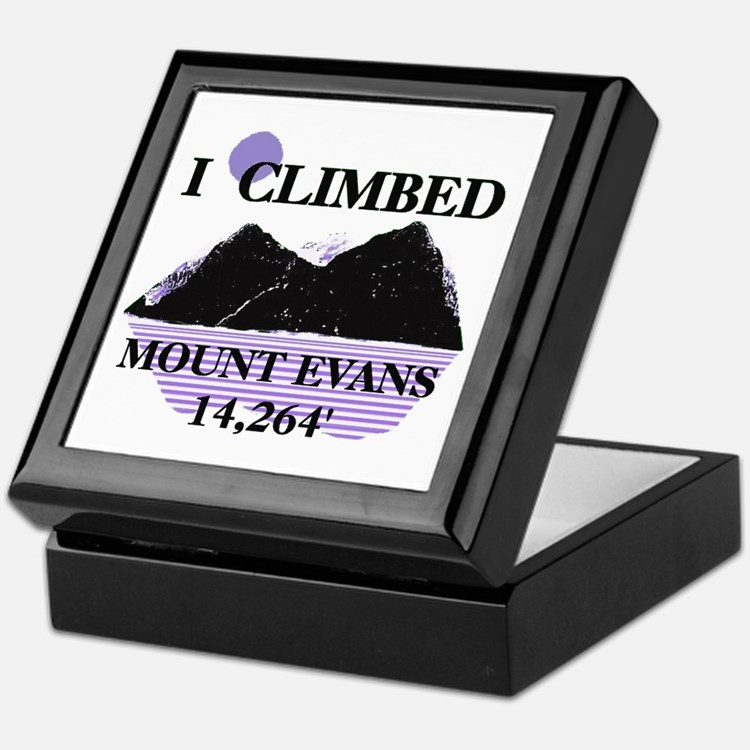 I Climbed MOUNT EVANS 14,264' Keepsake Box
