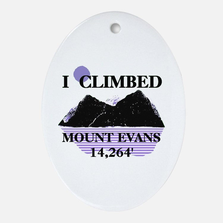 I Climbed MOUNT EVANS 14,264' Ornament (Oval)