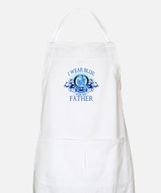 I Wear Blue for my Father (floral) Apron