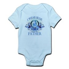 I Wear Blue for my Father (floral) Infant Bodysuit