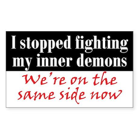 Fighting Inner Demons Sticker (Rectangle)