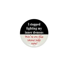 Fighting Inner Demons Mini Button