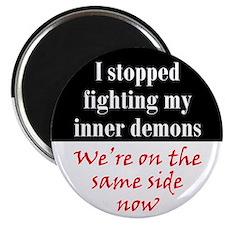 """Fighting Inner Demons 2.25"""" Magnet (100 pack)"""