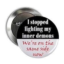 """Fighting Inner Demons 2.25"""" Button"""