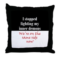 Fighting Inner Demons Throw Pillow