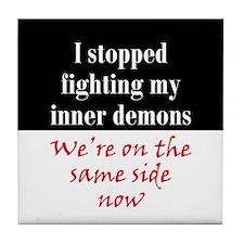 Fighting Inner Demons Tile Coaster