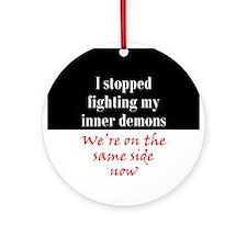 Fighting Inner Demons Ornament (Round)