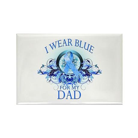 I Wear Blue for my Dad (floral) Rectangle Magnet