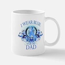 I Wear Blue for my Dad (floral) Mug