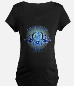I Wear Blue for my Dad (floral) T-Shirt