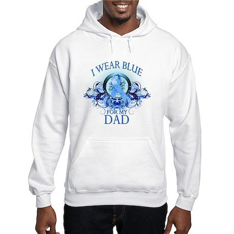 I Wear Blue for my Dad (floral) Hooded Sweatshirt
