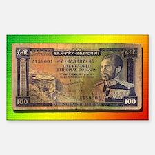 Ras Tafari Money Sticker (Rectangle)