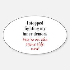 Fighting Inner Demons Sticker (Oval)