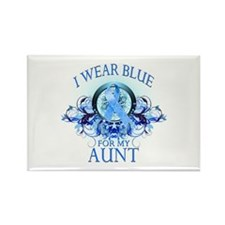 I Wear Blue for my Aunt (floral) Rectangle Magnet