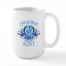I Wear Blue for my Aunt (floral) Mug