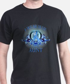 I Wear Blue for my Aunt (floral) T-Shirt