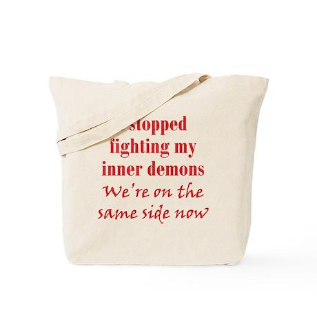Fighting Inner Demons Tote Bag