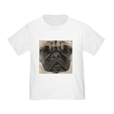 """pug face"" design T"
