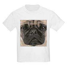 """""""pug face"""" design Kids T-Shirt"""