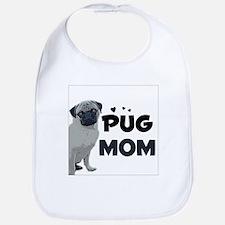 PUG Mom design Bib