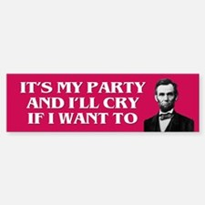PARTY OF LINCOLN Bumper Bumper Bumper Sticker