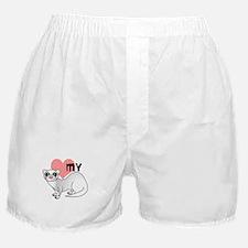 Love My Silver Ferret Boxer Shorts