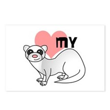 Love My Silver Ferret Postcards (Package of 8)
