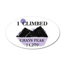 I Climbed GRAYS PEAK 14,270' 38.5 x 24.5 Oval Wall