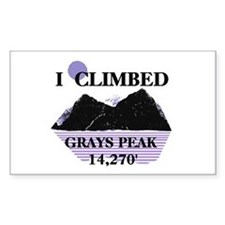 I Climbed GRAYS PEAK 14,270' Decal