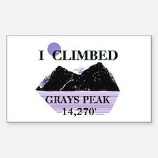I Climbed GRAYS PEAK 14,270' Sticker (Rectangle)
